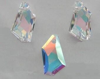 Swarovski Crystal 6670 24 mm De-Art Pendant Crystal AB, 1 piece