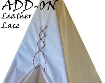 Teepee Leather Lace-up: Add on a Leather Lace to the Front of Your Teepee Order