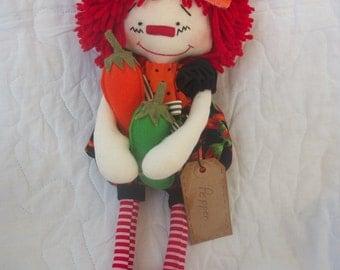Pepper-Primitive raggedy Ann