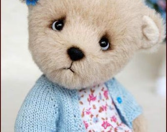 Forget-me-not.Artist teddy bear