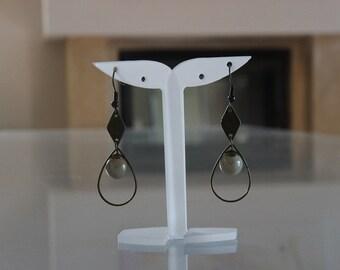 Graphic earrings beige/earrings