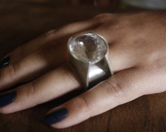 Wonderfull ring made off Silver 950, brazilian cristal... Original design made specially for you!