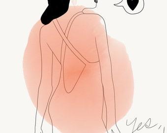 I love you - illustration a4