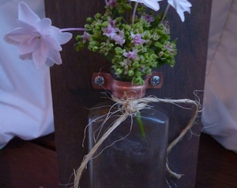 Rustic Antique Bottle Sconce (Small)