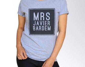 Javier Bardem T Shirt - Gray - S M L