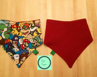 Bib reversible Bandana - Mario Bros. and Red