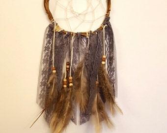 Gray and Brown Rustic Dreamcatcher