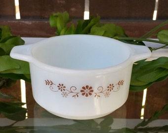 Vintage Dynaware Pyro-o-Rey Milk Glass Mini Casserole Dish