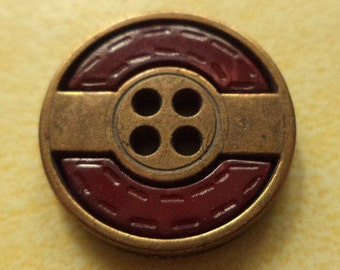 12 buttons red bronze 18mm (1595) button