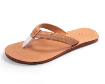 Natural Leather Thong Sandal