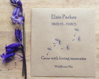 Memorial Wildflower Seed Packet Dandelion