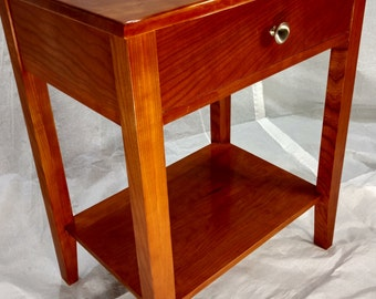Hand Made Solid Cherry Nightstand with Hidden Compartment