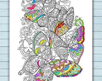 Printable Mandala Butterfly Coloring Page