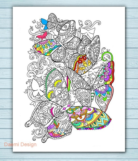Printable Mandala Butterfly Coloring