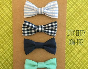 Fabric Bow-tie/ baby or toddler/ 4 print options/ alligator clip on