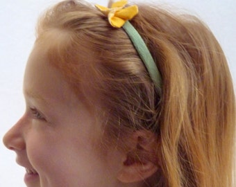 headband hair. headband. turban. elastic headband. organic headband. blindfold girl Yellow Butterfly