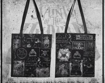 Occult Tote Bag (Witch, Skull, Pentagram, Horror)