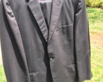 Dark gray striped suit