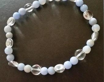 Genuine Gemstone Elasticated Bracelet