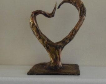 Organic Heart Sculpture