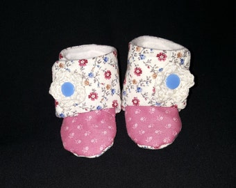 Floral Girl Booties 3mos