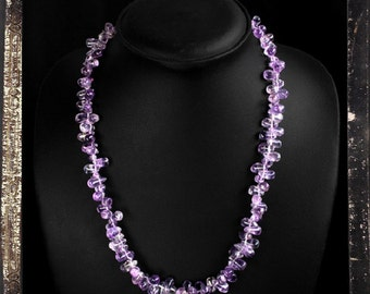"""20% OFF COUPON!!!---Amethyst Bead 20"""" Necklace, Single strand,  230.00 ctw"""