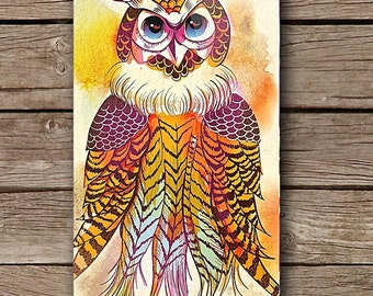 Spirit Owl iPhone Case iPhone 5/5S iPhone 6 iPhone 6 Plus Case Colourful Watercolour Watercolor Art Design by Case Mates