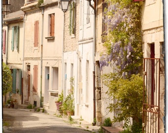 Old european city picture/ Travel photography/ Architecture wall Art/ Arles / France/ wisteria tree / 5x5 or10 x 10 inches