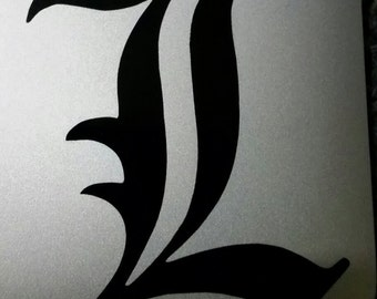 Vinyl Decal - Death Note 'L'