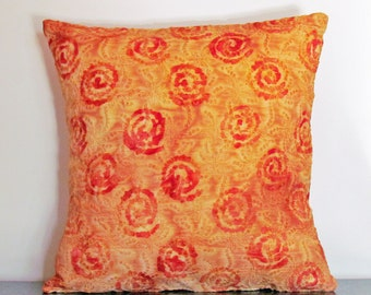 Yellow Cushion Cover, Decorative Pillow Cover, Gifts under 20, Bohemian, Custom Pillow Cover, 16x16 Pillow, Scatter Cushion, Handmade