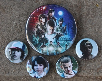 Stranger Things Button Set, Stranger Things Pin Set, Stranger Things 011, Stranger Things Eleven