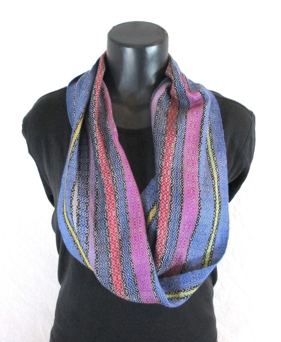 silk scarf lightweight scarf slinky summer scarf blue