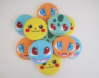 Pokemon Cookies - Pikachu/Squirtle/Charmander/Bulbasaur