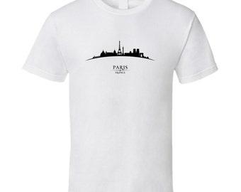 Paris France Cityscape Downtown Skyline T-shirt