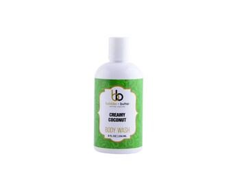 Bubbles and Butter Body Wash, CREAMY COCONUT, 8 OZ