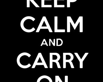 Keep Calm and Carry On - KCCO - vinyl decal
