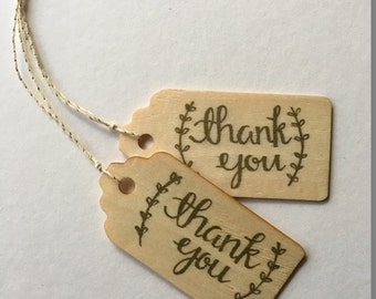 Wood Thank You Tag | Favor Tags | Wedding | Baby Shower | Gift Tags