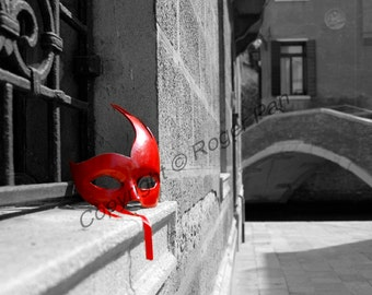 Digital Download, ''Venice, Red Mask'', photography by Roger Pan