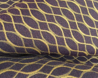 "Upholstery Fabric 54"" Plum/Gold - 3 Yards"
