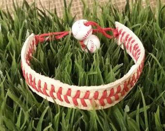 Handmade from a Real Baseball Bracelet