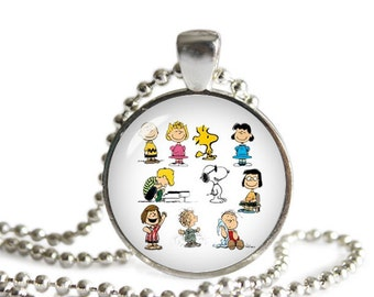 Peanuts Snoopy Characters Necklace Pendant Snoopy  Fandom Jewelry Cosplay Fangirl Fanboy