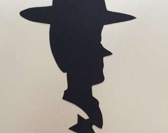 Woody silhouette paper cut out - Framed