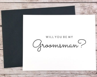 Will You Be My Groomsman Card, Groomsman Gift, Wedding Card- (FPS0016)