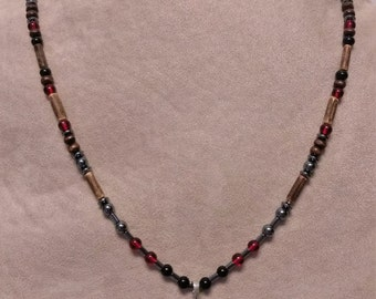 Red and Black Cross necklace