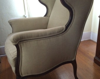 Classic 1950s Wingback Chair - Local Pickup ONLY