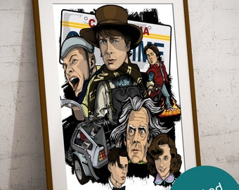 Back To The Future Art Print - Limited - Signed By Artist