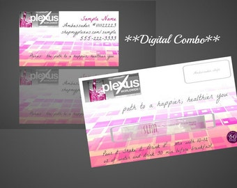 DIGITAL COMBO* Plexus Matching Sample Cards and Business Cards
