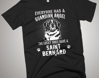 Saint Bernard Guardian Angel T-Shirt Gift