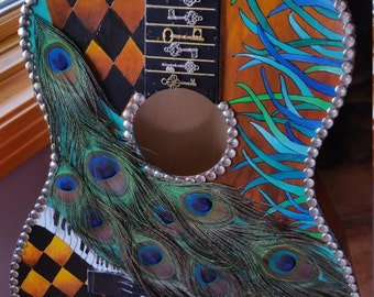 The Keys Hand Painted and Mosaic Guitar