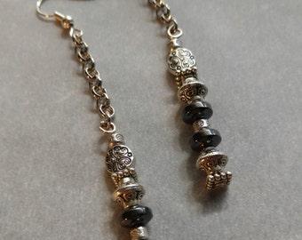 Handmade Dangle Hematite earrings